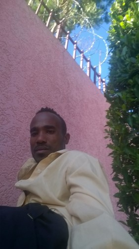 Searcht Tesfaye outside, 21, Addis Ababa